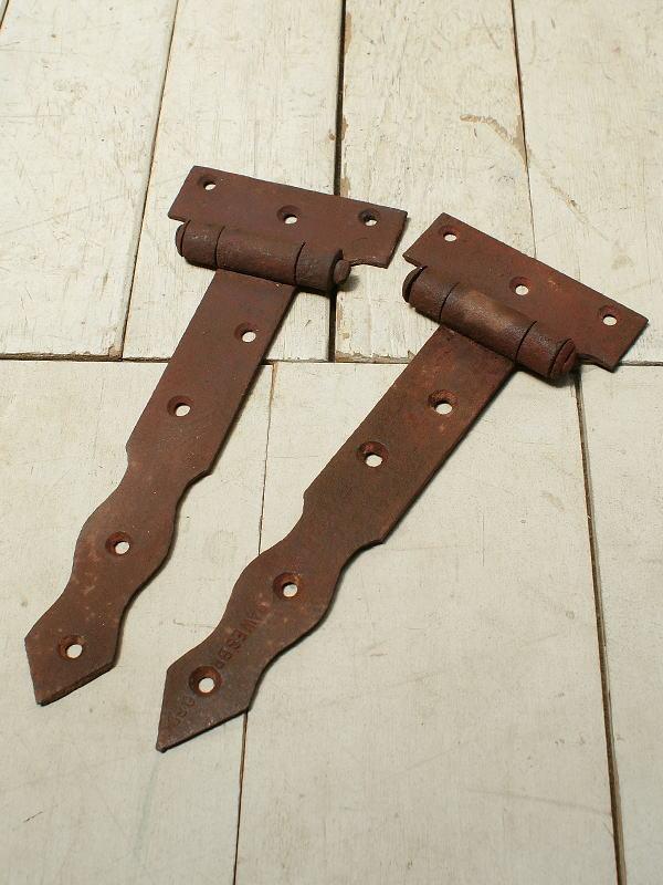イギリス アンティーク 鉄製ヒンジ 建具金物 3243