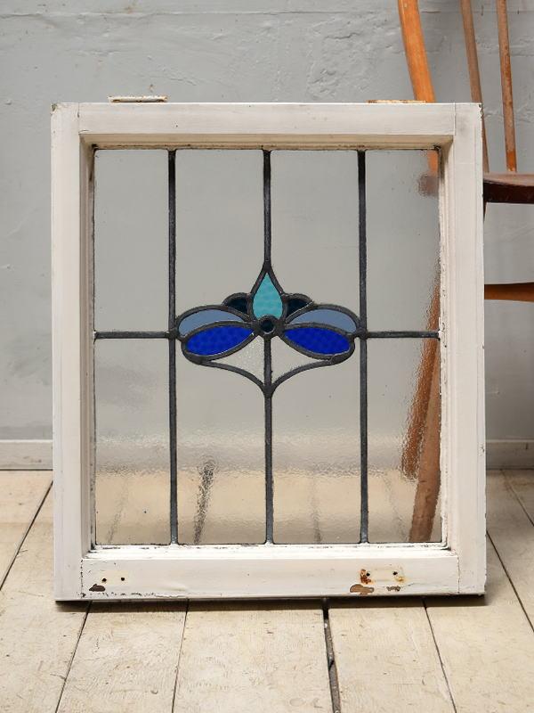 イギリス アンティーク ステンドグラス 幾何学 4006