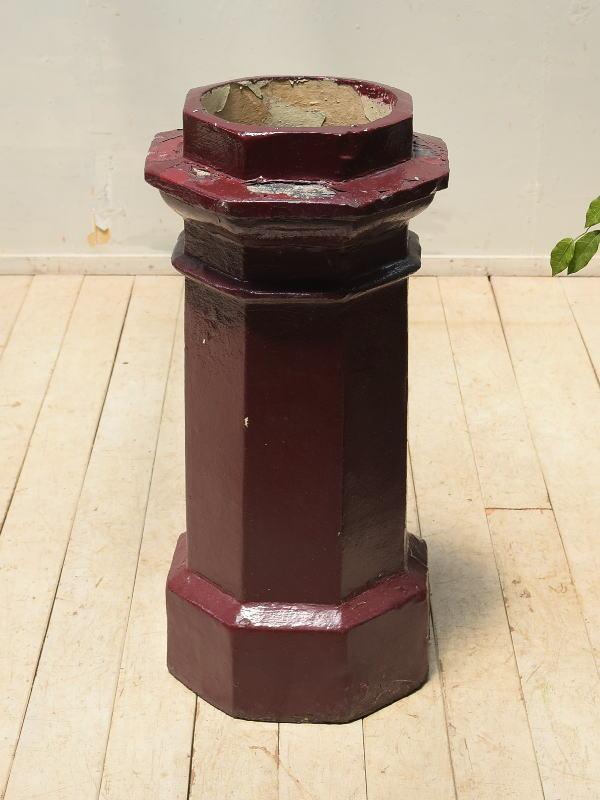 イギリス アンティーク チムニーポット 植木鉢 プランター 4045
