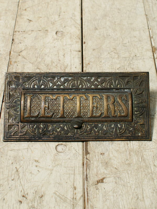 イギリス アンティーク レタースロット 郵便受け 建具金物 4243
