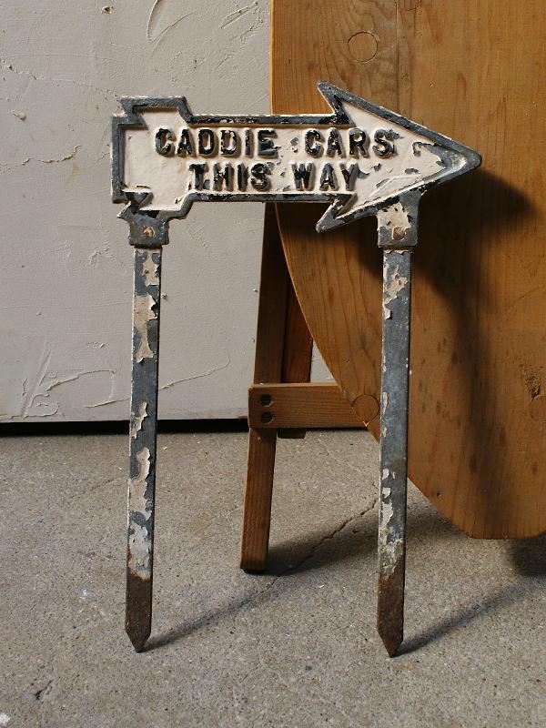 イギリス アンティーク ゴルフ場のダイレクションサイン 標識 4386