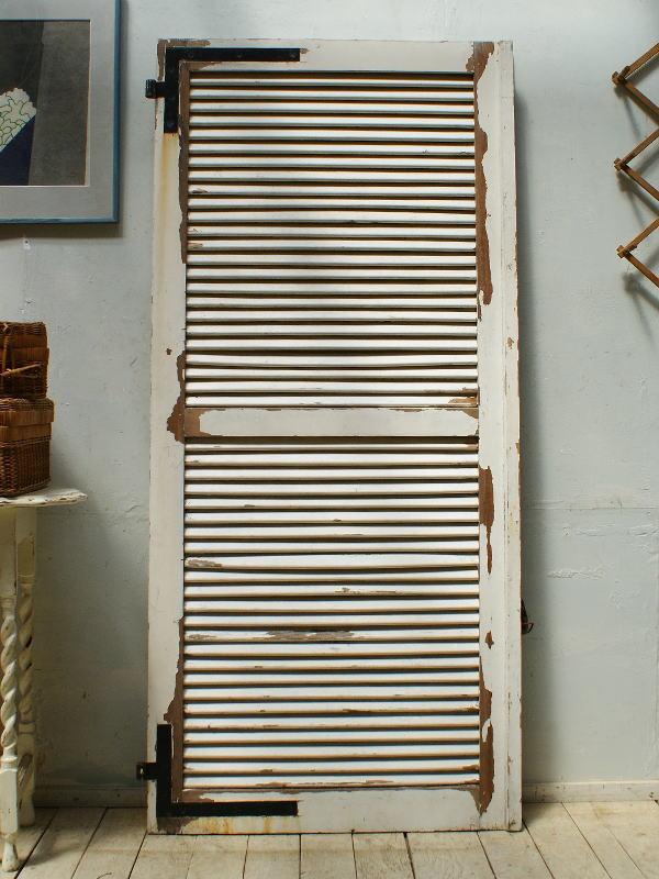 フレンチ アンティーク 木製ルーバー雨戸 ディスプレイ 建具 5307