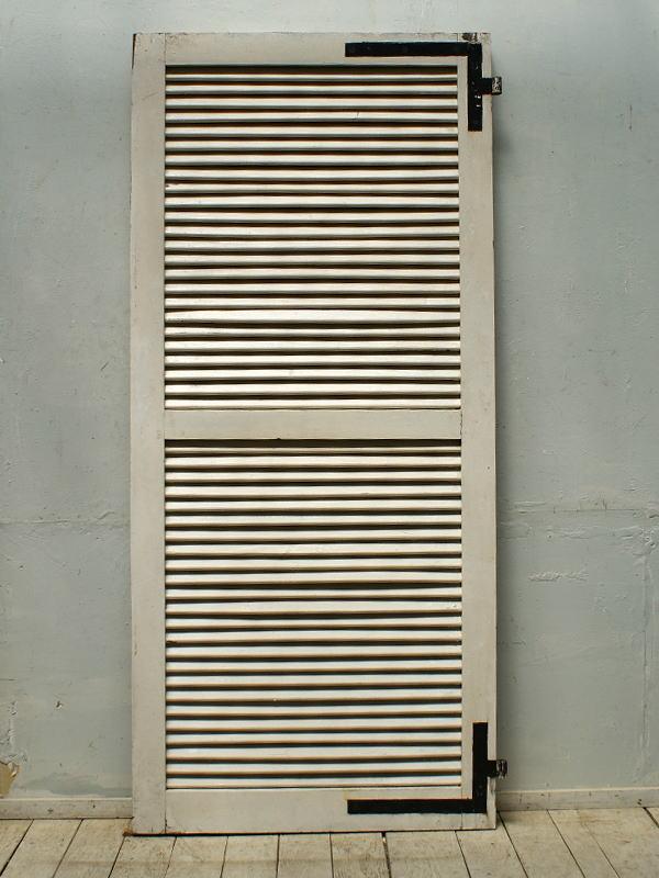 フレンチ アンティーク 木製ルーバー雨戸 ディスプレイ 建具 5308