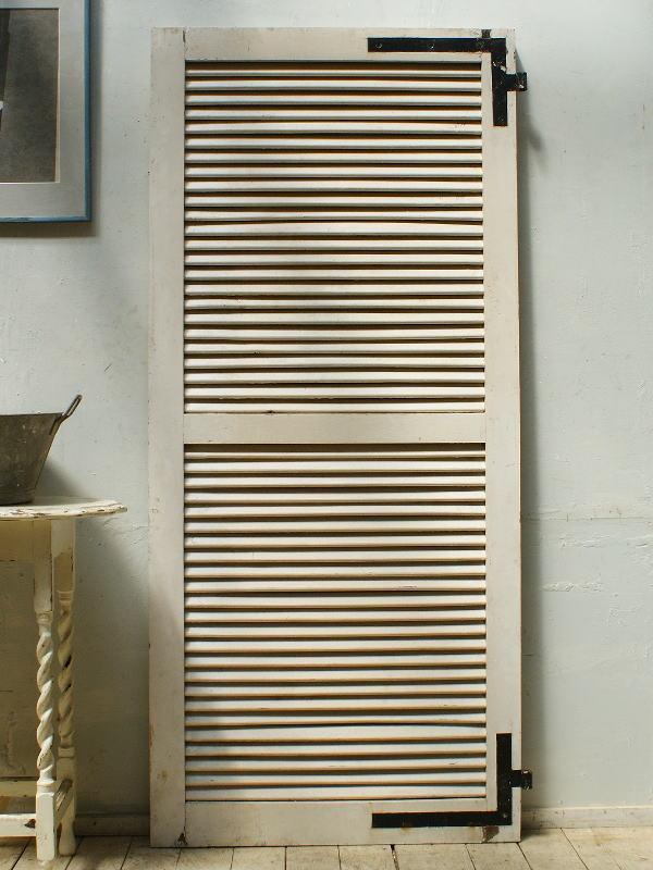 フレンチ アンティーク 木製ルーバー雨戸 ディスプレイ 建具 5309