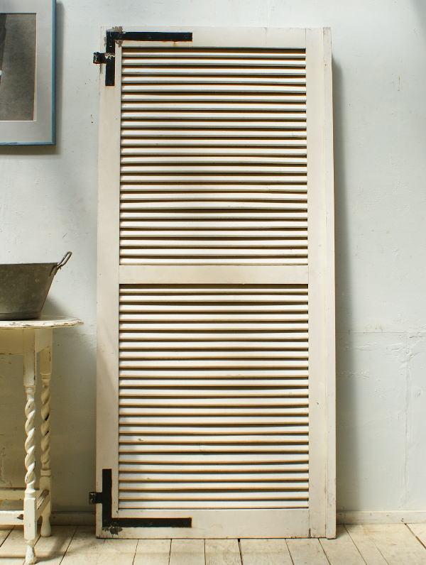 フレンチ アンティーク 木製ルーバー 雨戸 ディスプレイ 建具 5310