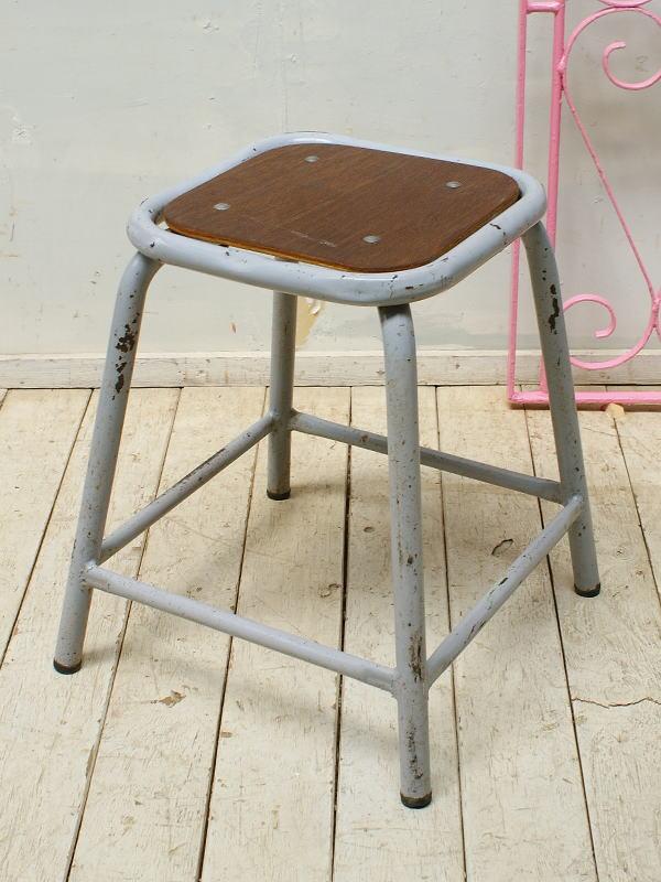 ベルギー アンティーク インダストリアルスツール 椅子 5321