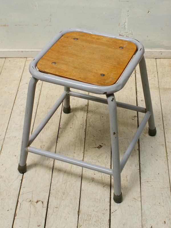 ベルギー アンティーク インダストリアルスツール 椅子 5322