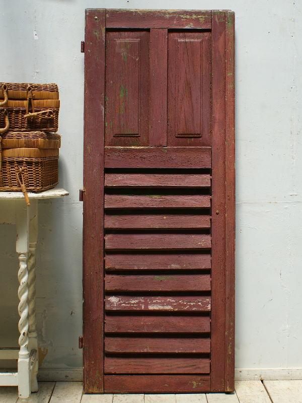 フレンチ アンティーク 木製ルーバー雨戸 ディスプレイ 建具 5361