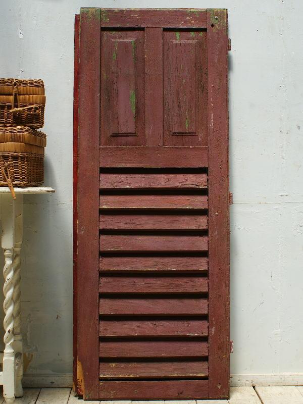 フレンチ アンティーク 木製ルーバー雨戸 ディスプレイ 建具 5362