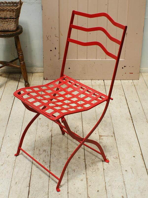 イギリス アンティーク アイアンガーデンチェア 椅子 5485