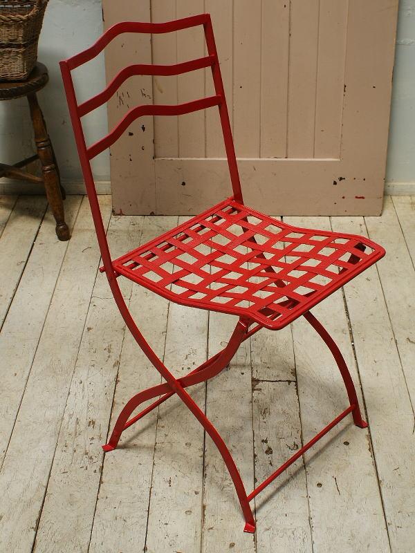 イギリス アンティーク アイアンガーデンチェア 椅子 5486