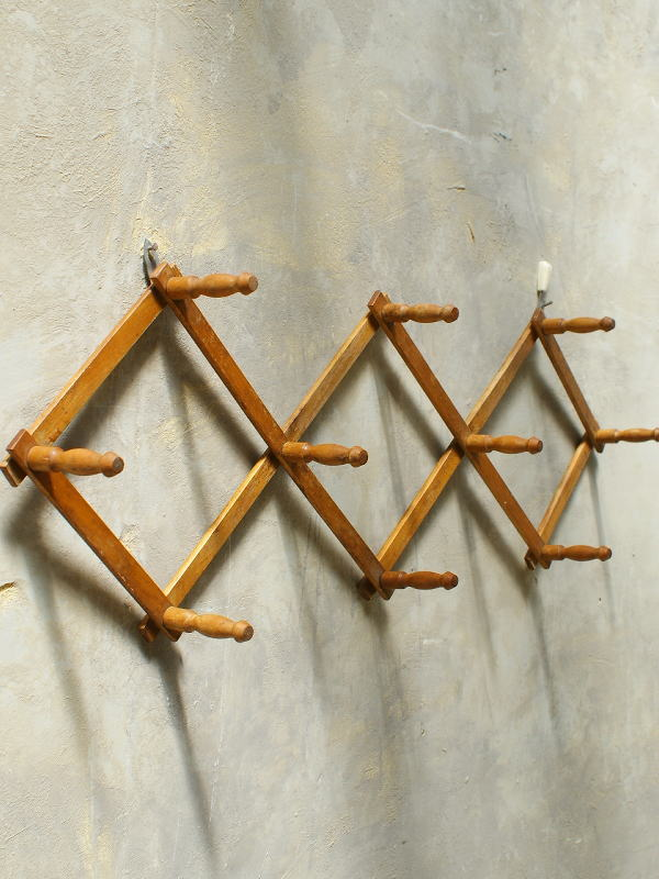 フレンチ アンティーク 木製コート&ハットフック 5620