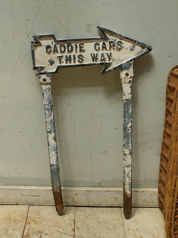 イギリス アンティーク ゴルフ場のダイレクションサイン 標識 5626