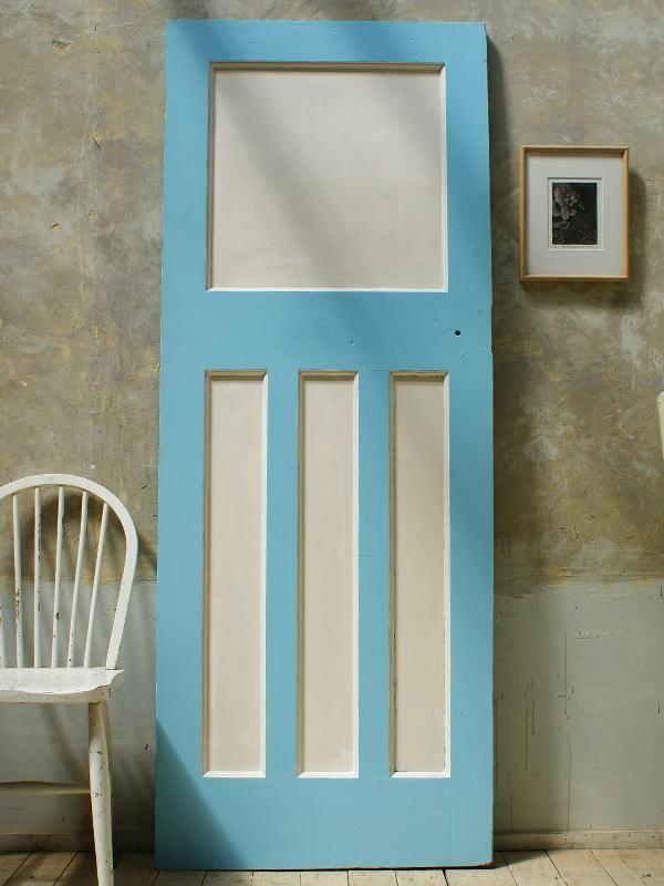 イギリス アンティーク 木製ドア 扉 ディスプレイ 建具 5689