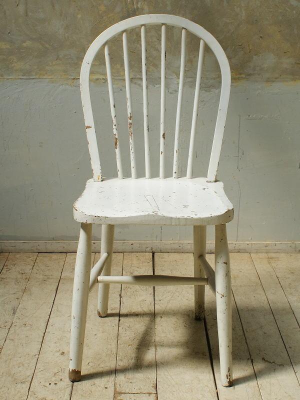 イギリス アンティーク家具 キッチンチェア ペイント 5704