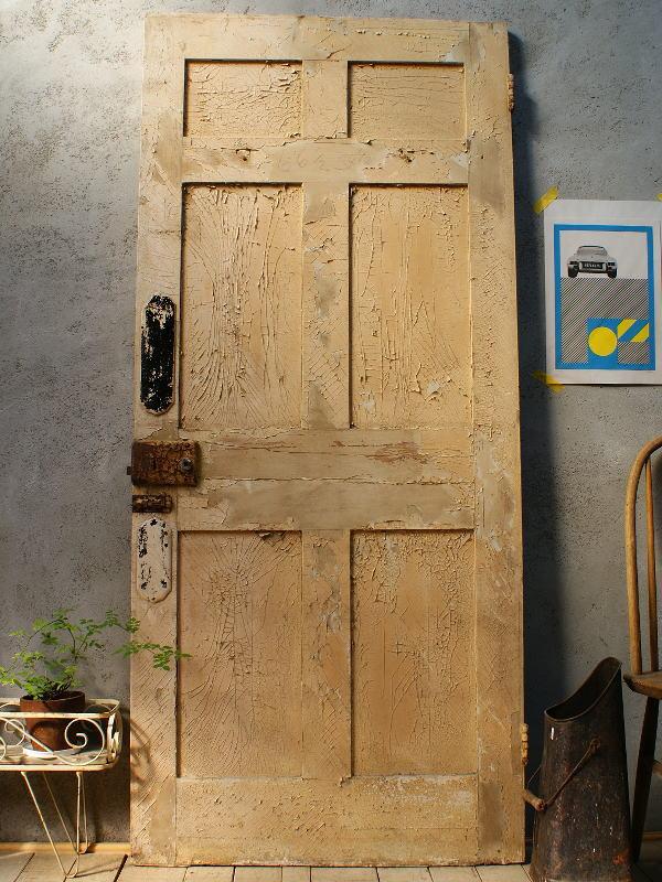 イギリス アンティーク 木製ドア 扉 ディスプレイ 建具 5807