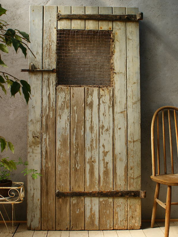 イギリス アンティーク 木製ドア 扉 ディスプレイ 建具 5828