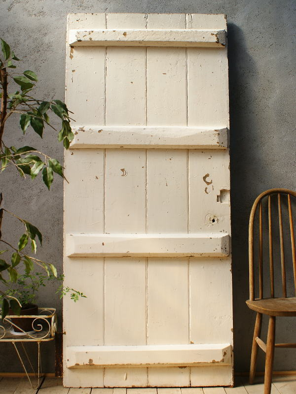イギリス アンティーク 木製ドア 扉 ディスプレイ 建具 5857