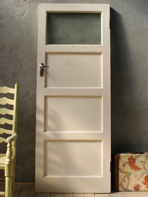 イギリス アンティーク ステンドグラス入り木製ドア 扉 ディスプレイ 建具 5875