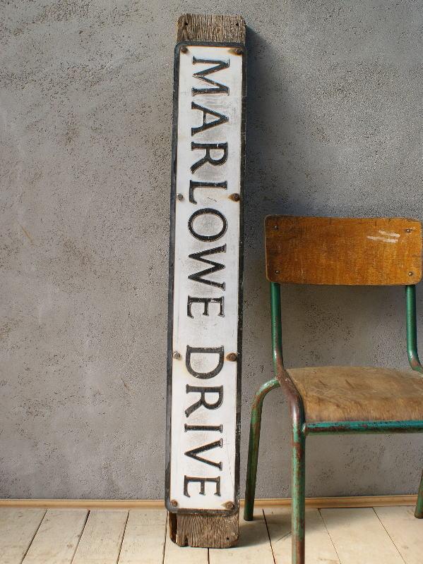 イギリス アンティーク  ロー ドサイン 標識 ディスプレイ 6069