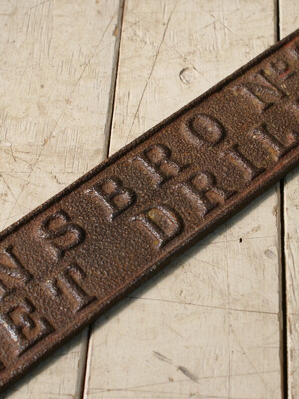 イギリス アンティーク ロー ドサイン 標識 ディスプレイ 6082