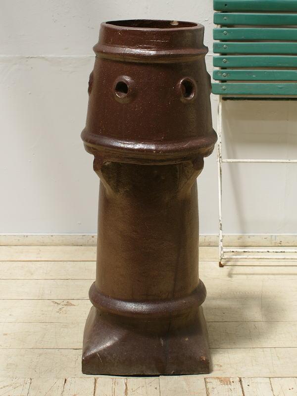 イギリス アンティーク チムニーポット 煙突 ガーデニング 6260