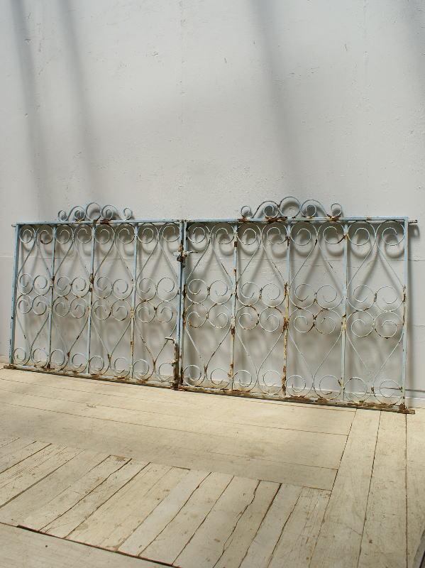 イギリスアンティーク アイアンフェンス ゲート柵 ガーデニング 6304