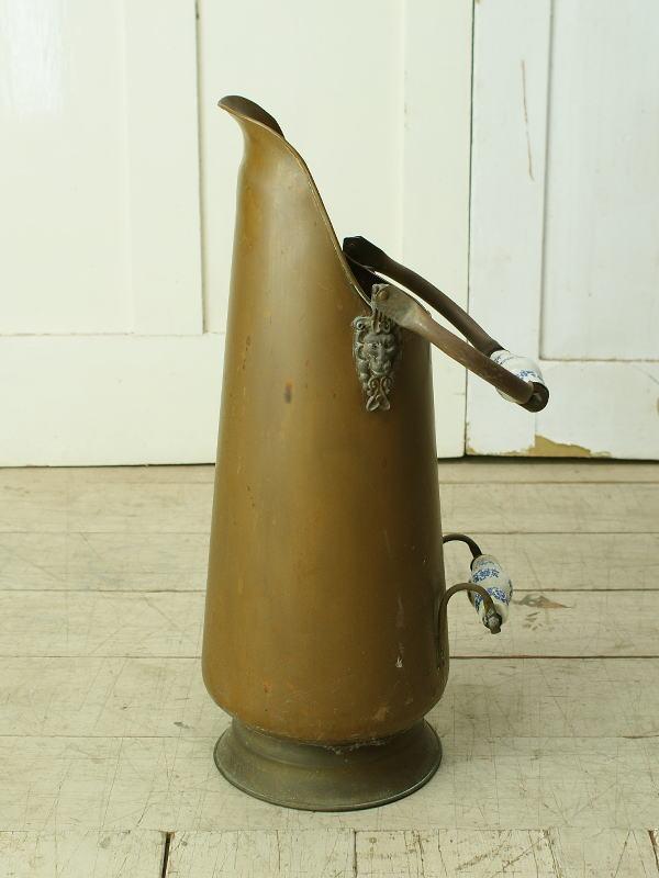 フレンチ アンティーク 銅製 コールバケツ プランターカバー 6331