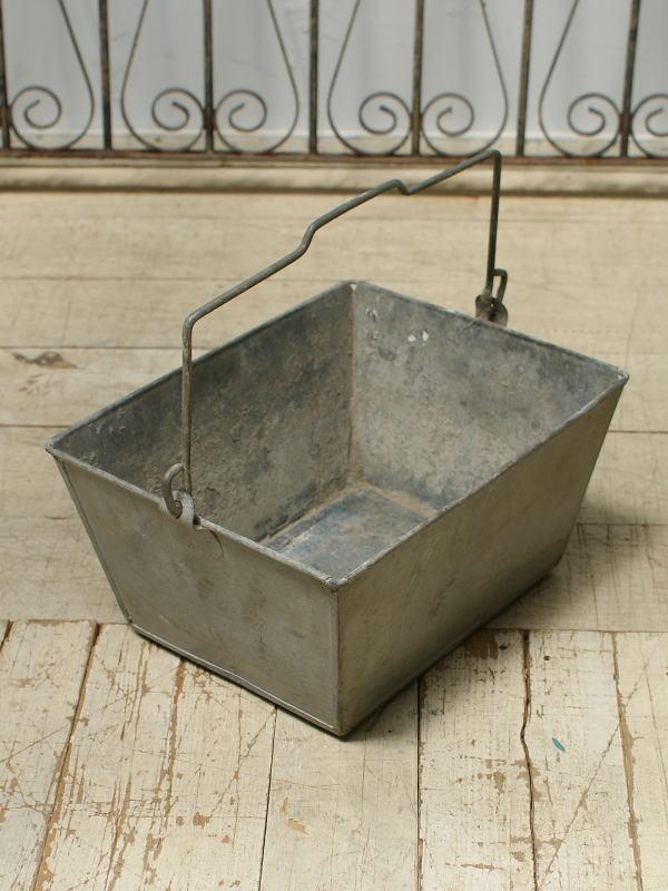 フレンチ アンティーク ブリキ製 工具箱 ディスプレイ 6388
