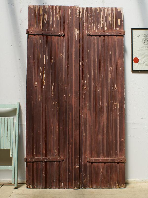 フレンチ アンティーク 木製ドア ペア 扉 ディスプレイ 建具 6404