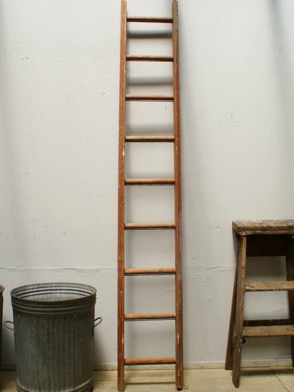 イギリス アンティーク 木製ラダー 梯子 ディスプレイ 6410