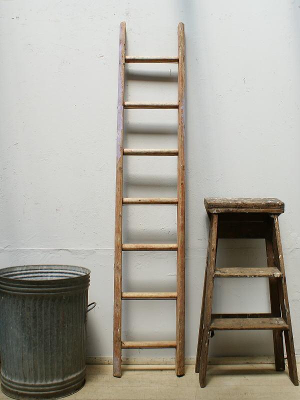 イギリス アンティーク 木製ラダー 梯子 ディスプレイ 6411