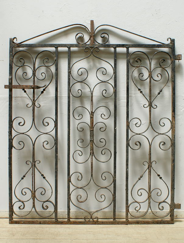イギリスアンティーク アイアンフェンス ゲート柵 ガーデニング 6416