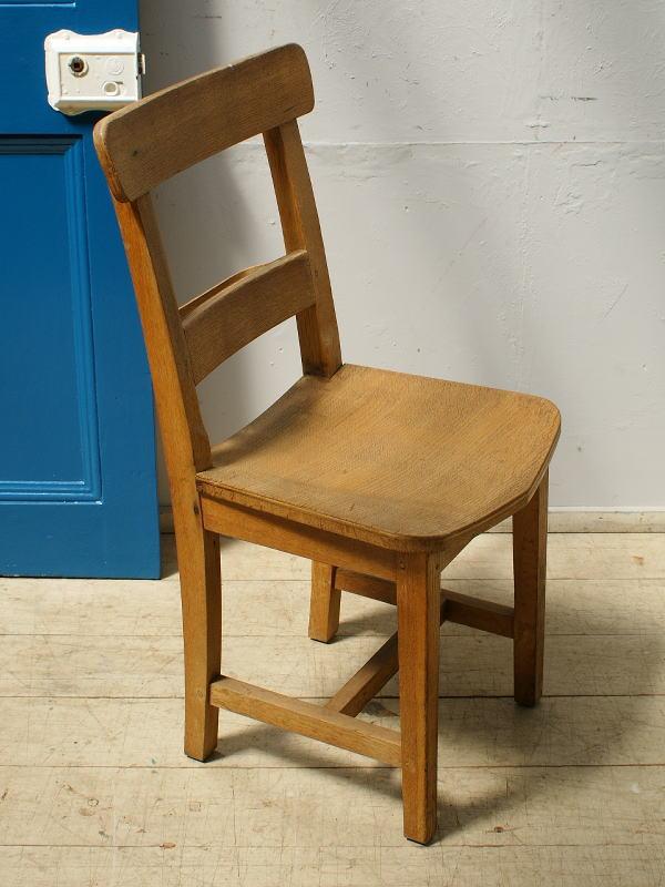 イギリス アンティーク家具 スクールチェア 木味 6475