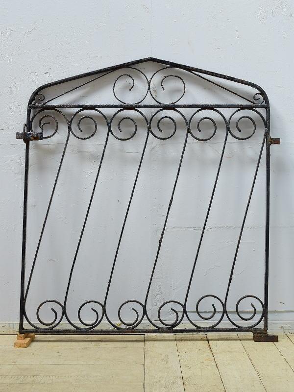 イギリスアンティーク アイアンフェンス ゲート柵 ガーデニング 6510