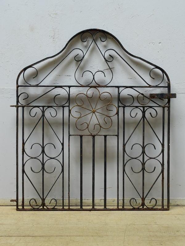 イギリスアンティーク アイアンフェンス ゲート柵 ガーデニング 6522