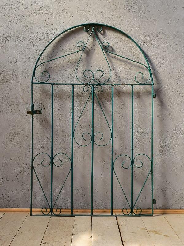 イギリスアンティーク アイアンフェンス ゲート柵 ガーデニング 6541