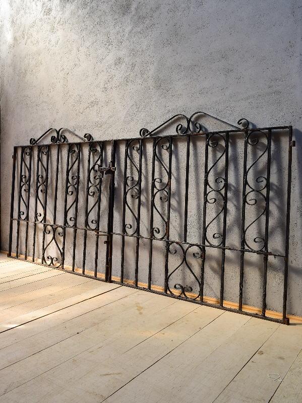 イギリス アンティーク アイアンフェンス ゲート柵 ガーデニング 6543