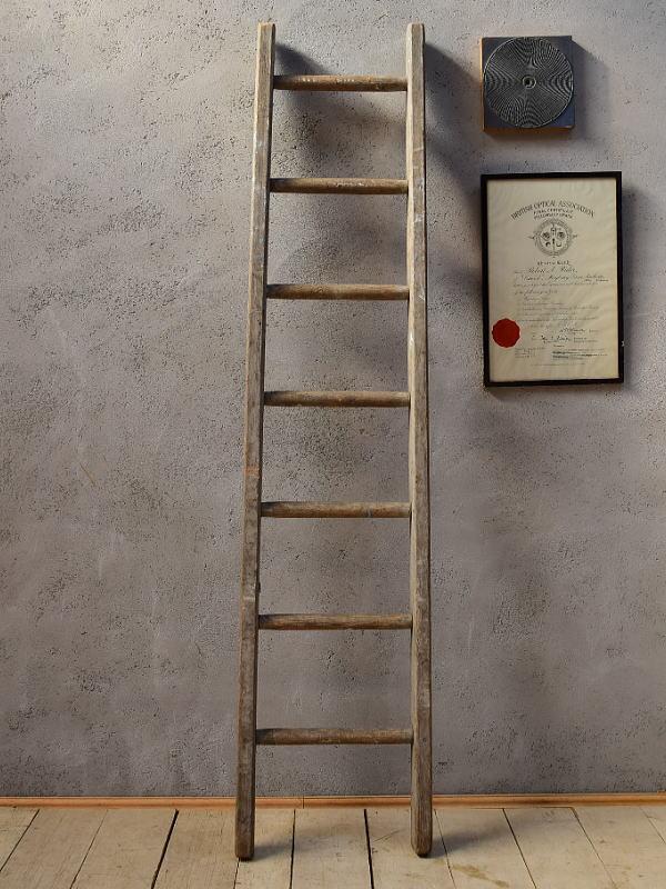イギリス アンティーク 木製ラダー 梯子 ディスプレイ 6568