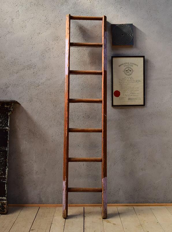 イギリス アンティーク 木製ラダー 梯子 ディスプレイ 6570