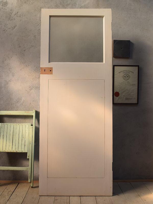 イギリス アンティーク ガラス入り木製ドア 扉 建具 6610