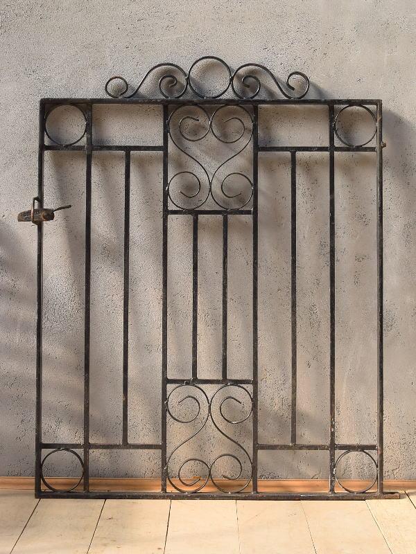 イギリス アンティーク アイアンフェンス ゲート柵 ガーデニング 6616