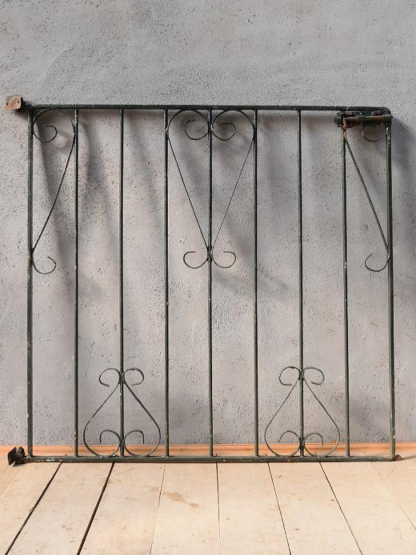 イギリス アンティーク アイアンフェンス ゲート柵 ガーデニング 6648