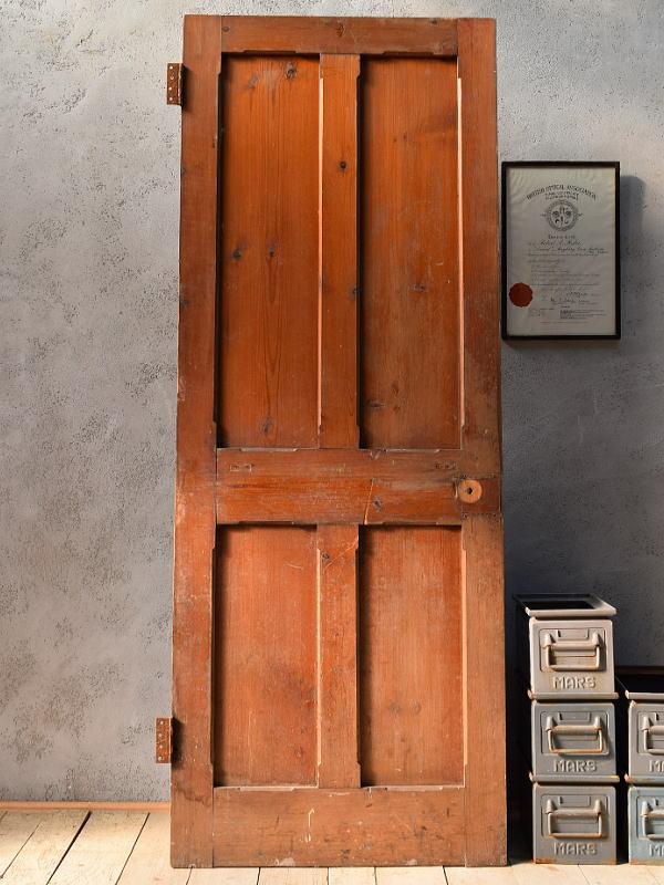 イギリス アンティーク オールドパインドア ディスプレイ 建具 6682