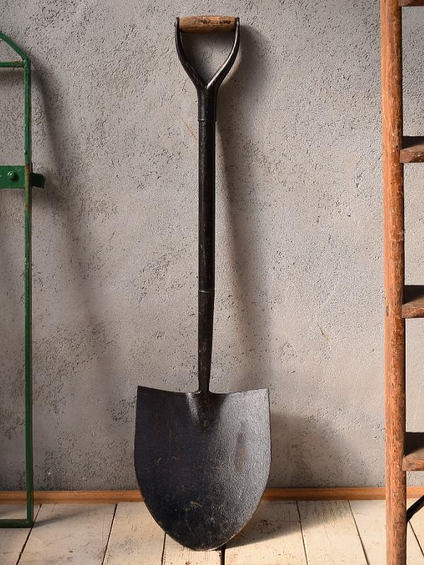 イギリスアンティーク ガーデンスコップ 農機具 6746
