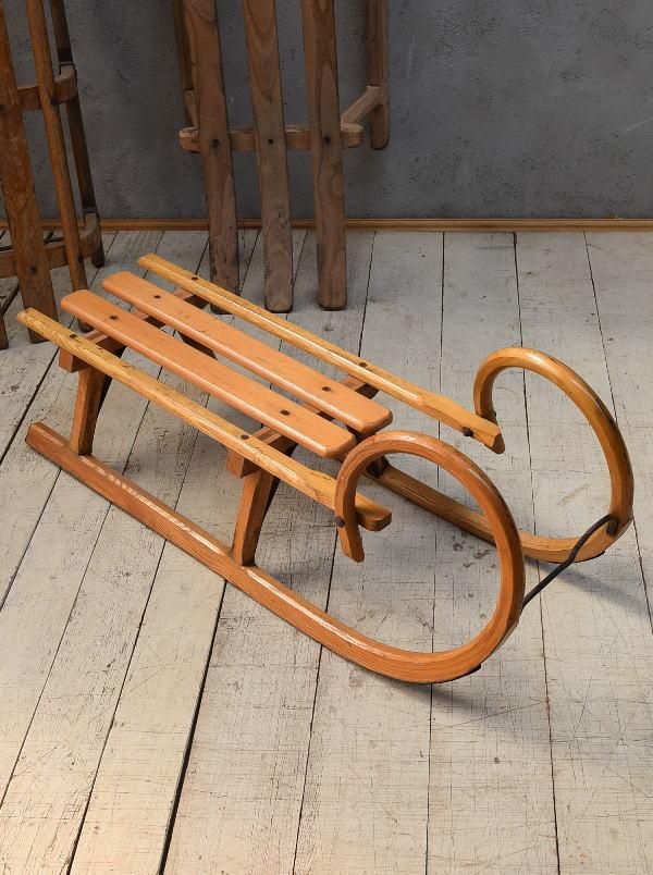 (旧)東ドイツ製 アンティーク 木製ソリ 6766