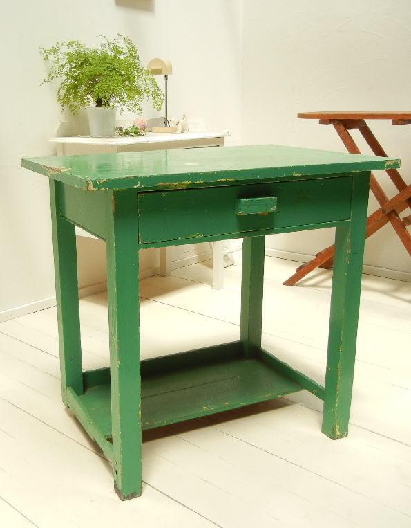 イギリス アンティーク オールド ペイントテーブル 作業台 676