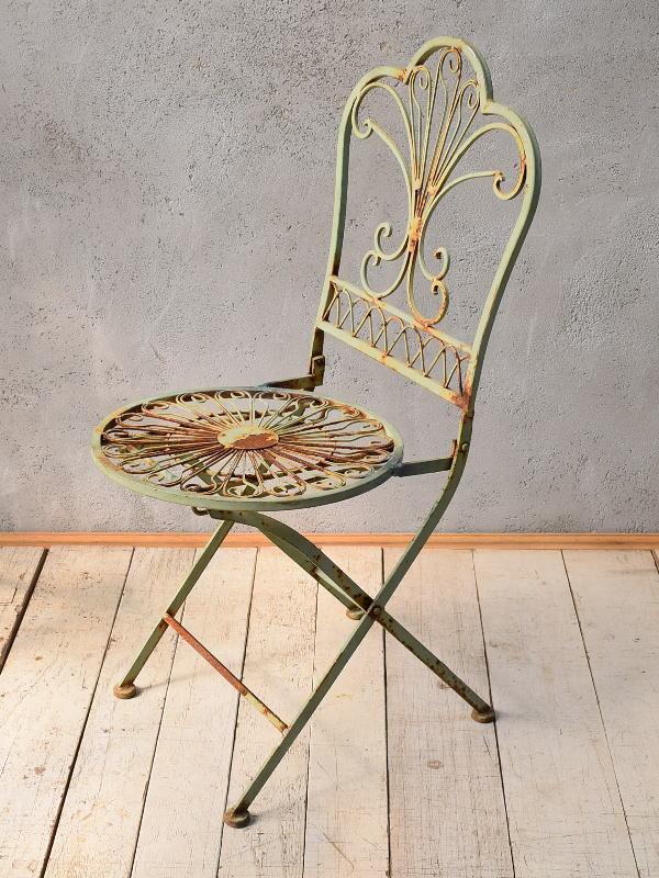 イギリス アンティーク アイアンガーデンチェア 椅子 6788