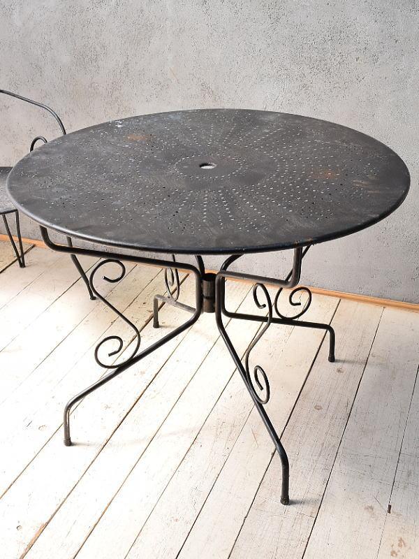 フレンチ アンティーク アイアン ガーデンテーブル  6803