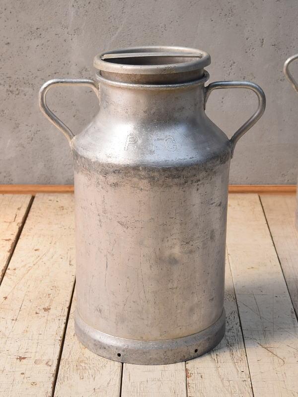 フレンチ アンティーク アルミ製 ミルクキャリー 6831
